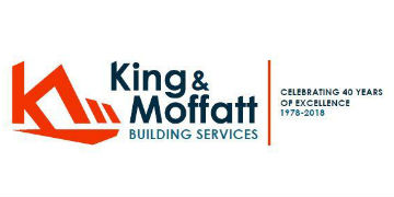 KING AND MOFFATT BUILDING SERVICES logo