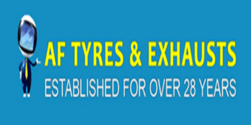 A F DISCOUNT TYRES & EXHAUSTS logo